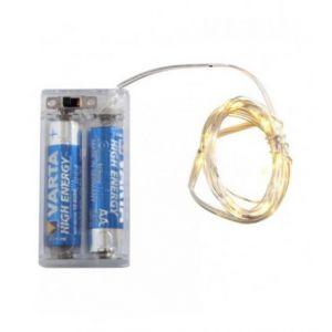 Guirlande (2m) argentée 20 LED (à piles)