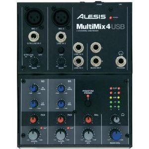 Alesis Multimix 4 USB - Mixeur 4 entrées avec une carte son USB intégrée