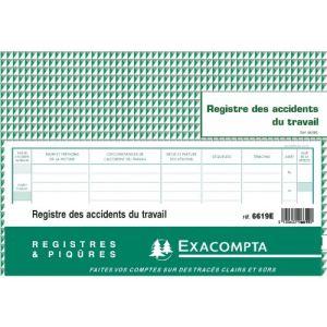Exacompta Piqûre registre accident du travail 20 pages (240 x 320 mm)