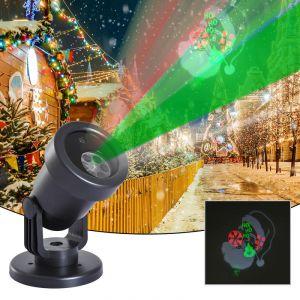 Homcom Projecteur LED éclairage de Noël intérieur extérieur 5 W motif tête du père Noël + animations surface projection ajustable 10-30 m² noir