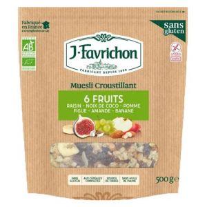 Favrichon Muesli croustillant 6 fruits Bio 500g