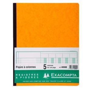 Exacompta Registre piqure 5 colonnes 80 pages (250 x 320 mm)