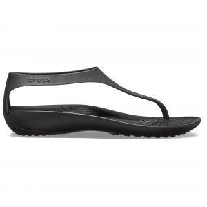 Crocs Women´s Serena Flip - Sandales de marche taille W9, noir