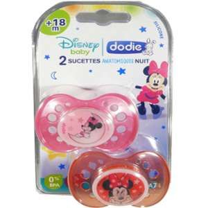 Dodie 2 sucettes Disney + 18 mois silicone Minnie