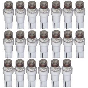 Aerzetix : 20x Ampoules T5 24V LED blanc pour tableau de bord camion semi-remorque