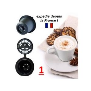 1 capsule noire compatible pour machines Nespresso