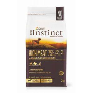 True instinct High Meat Medium-Maxi Poulet 12 Kg