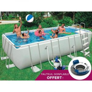 Intex 28352 - Piscine tubulaire rectangulaire 5,49 x 2,74 x 1,32 m