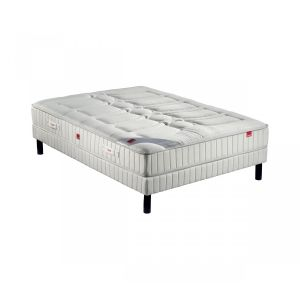 Epeda Ensemble matelas ressort plaza sommier pieds 140x190