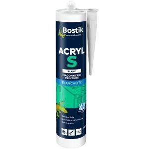 Bostik Mastic Acryl S - blanc - 310 mL - Mastic divers PRO