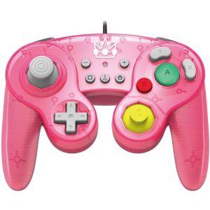 Hori Manette Nintendo Switch filaire Smash Bros Battle Pad Super Mario Peach Rose