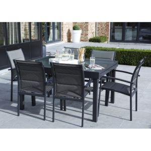 Alpina Garden Modulo 6 - Ensemble de jardin en aluminium avec 6 fauteuils