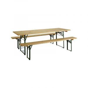 DPC Table avec 2 bancs en bois
