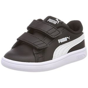 Puma Smash V2 L V Inf, Sneakers Basses mixte bébé, Noir Black White, 24 EU
