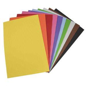 Oz international Papier mousse effet ondulé - 21 x 27,5 cm - 10 feuilles assorties