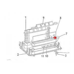 Procopi 1012028 - Barre de fixation sac porte filtre 2 sacs Patriote