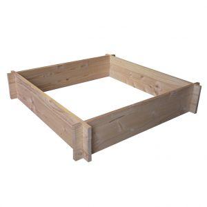 Potager carré brut 90 x 90 x 18 cm ep.19mm