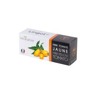 Veritable Lingot Mini Tomate Jaune - Compatible Potager d'Intérieur V et Exky - Recharge prête à l'emploi - Substrat avec Graines Intégrées