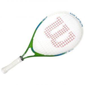 Wilson Raquette de Tennis pour Enfants US Open 21 Taille 5-6 ans Vert/Blanc/Bleu WRT21010U