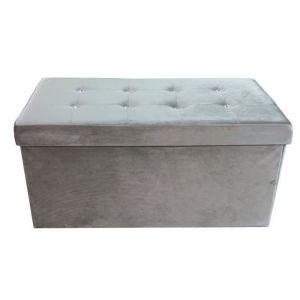 5ba49d0b1d003d Cotton wood Banc Coffre pliable Diamant - 76 x 38 x 38 cm - Gris
