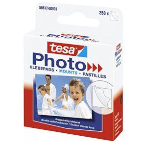 Tesa 56617-00001-00 - Photo pastilles adhésives pour photos, blanc, fixation