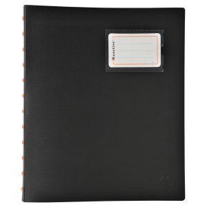 Exacompta 86334E - Protège-documents détachables à anneaux 60 vues Exactive, polypro, coloris noir
