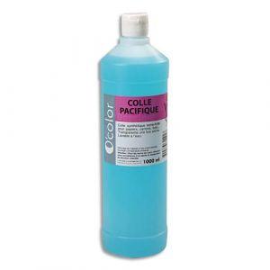 O Color 1litre colle synthétique forte. Non toxique. Lavable à l'eau. Collage papiers et cartons.