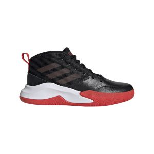 Adidas Chaussures de basketball Own the Game Wide Noir / Rouge - Taille 37 y 1/3