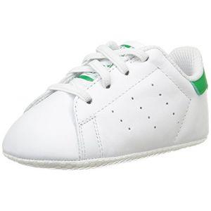Adidas Stan Smith Crib, Chaussures Bébé Marche bébé garçon, Blanc (FTWR White/FTWR White/Green), 17 EU (0-6 Months Bébé UK)