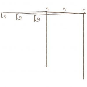 VidaXL Arche de rosiers de jardin Marron antique 3x3x2,5 m Fer