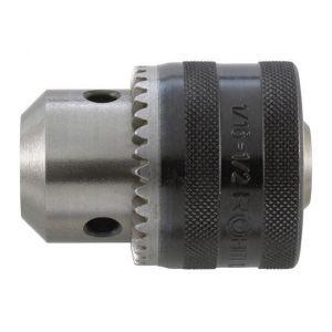 Rohm Mandrin trois mors de perceuse clé Prima à emmanchement conique, Capacité de serrage : 1,0-16,0 mm, Fixation B18, &Oslash extérieur 56,5 mm, Taille de clé : S3