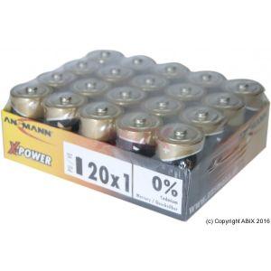 Ansmann 20 piles alcalines X-Power 1,5V format LR14/C