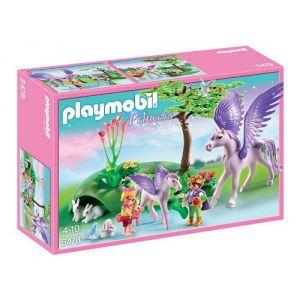 Playmobil 5478 Princess - Enfants royaux avec cheval ailé et son bébé