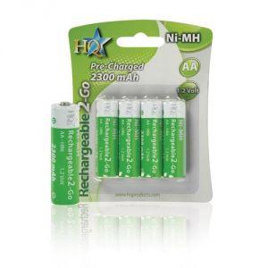 Hq Blister de 4 piles rechargeables AA LR6 1.2 V 2300 mAh