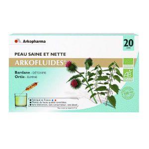 Arkopharma Arkofluides - Peau saine et nette, 20 ampoules