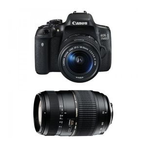 Canon EOS 750D (avec 2 objectifs 18-55mm et Tamron 70-300mm)