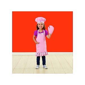 Just Like Home Ensemble de toque et tablier de cuisinier enfant