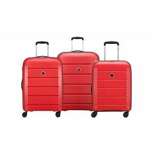Delsey Valise trolley : Binalong / Set de 3 valises / Rouge