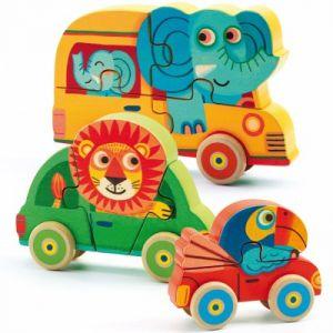 Djeco Puzzles évolutifs en bois x 3 : Pachy et Co