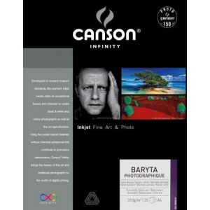 Canson 200002279 - 25 feuilles Infinity Baryta Photo A4 310g/m²