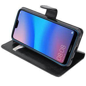 EbestStar Etui Huawei P20 Lite Coque Housse PU Cuir Portefeuille, Noir [Dimensions PRECISES de Votre Smartphone : 148.6 x 71.2 x 7.4 mm, écran 5.84''] (ebestPro (Expédié depuis France), neuf)