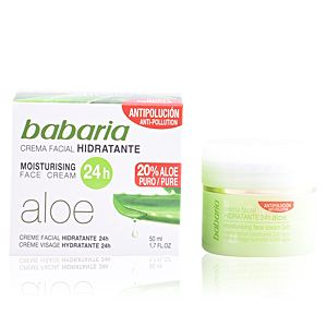Babaria Aloe Vera - Crema facial hidratante 50Ml