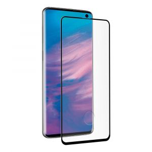 Muvit Tempered Glass Screen Protector Samsung Galaxy S10e One Size Clear / Black - Clear / Black - Taille One Size