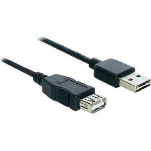 Delock 83371 - Câble easy USB 2.0 A mâle vers A femelle 2 m noir