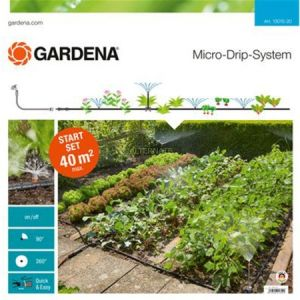 Gardena 13015-20 - Kit d'initiation Micro-Drip System pour potagers et massifs