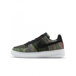 Nike Chaussure Air Force 1 Flyknit 2.0 - Enfant - Noir - Taille 35.5