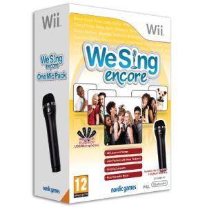 We Sing Encore + 1 Microphone [Wii]