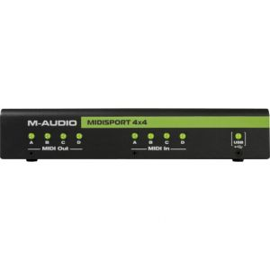 M-Audio Midisport 4x4 - Interface MIDI USB 4 entrées/4 sorties