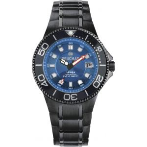 Beuchat Beu0084 - Montre pour homme Automatique Apnéa avec bracelet en acier