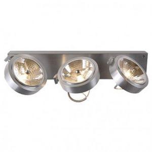 SLV Applique murale / Plafonnier KALU 3 - 3 ampoules - A cardanique - Pivotante à 350° aluminium SLV